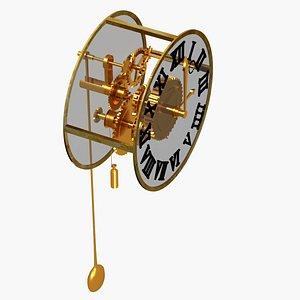 3D model clock