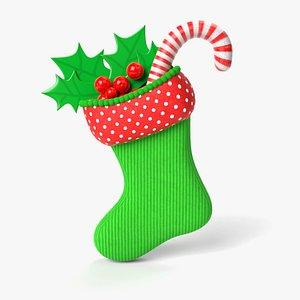 christmas stocking 3D model