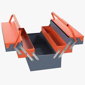 metal cantilever tool box 3D model