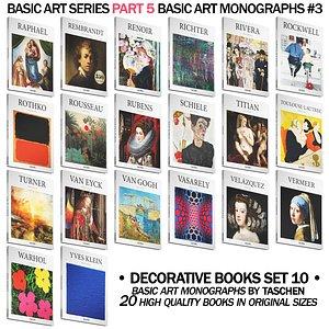 051 Decorative books set 10 Basic Art Series PART 05 model