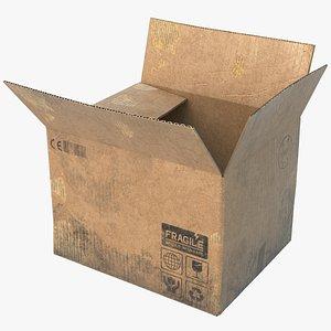 cardboard box board 3D model