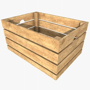 Wooden Crate 2  With PBR 4K 8K model