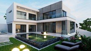 3D Exterior house F01 model
