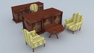 3D Classic Office Set model