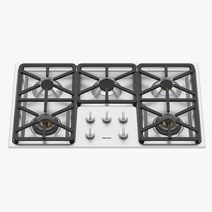 Gas hob KM 3474 G 914 mm by MIELE 3D model