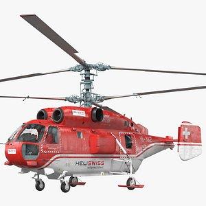 Kamov KA-32 Firefighting Helicopter Rigged 3D model