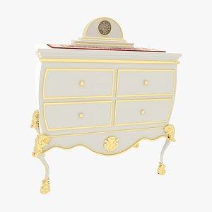 3D model Antique Dresser White