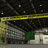 Warehouse with Crane