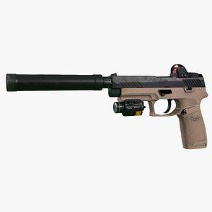 3D Sig Sauer M17 standart  upgrade model