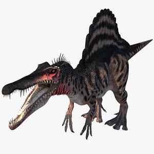 3D spinosaurus dinosaur