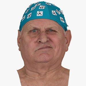 Homer Human Head Cheek Raiser Left AU6 Raw Scan 3D model
