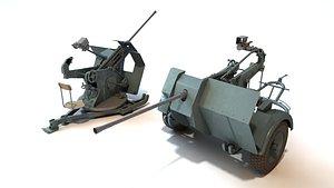 flak 30 2 cm 3D model