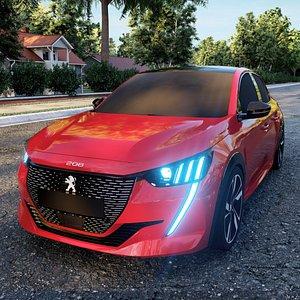 3D 3D Peugeot 208 2021 model
