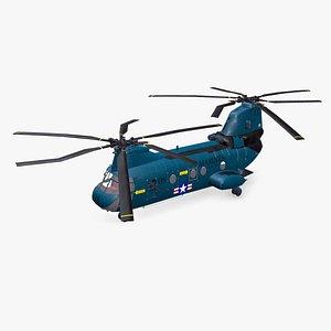 3D Boeing Vertol CH-46 Sea Knight Low-poly PBR model