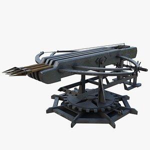 3D Ballista Weapon  Rocket Arrow Launcher model