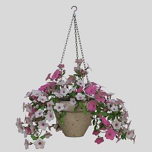 3D Hanging Flower Petunia