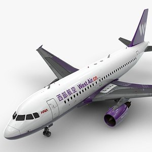3D model AirbusA319-100WEST AIRL1416