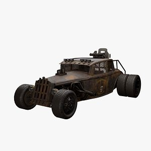 3D Mad Max style Hot Rod model
