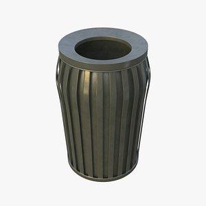 3D model NYC Trash Bin V01