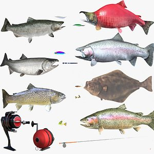 3D fish lures trout salmon