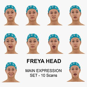 Freya RAW Scans Main Expression Set - 10 poses Collection model