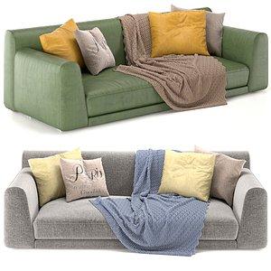 3D sofa paris poliform model