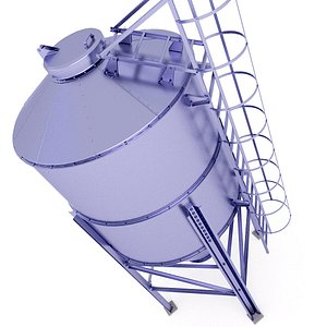 3D Chemicals Storage Silo 29