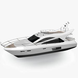 3D model medium yacht florida