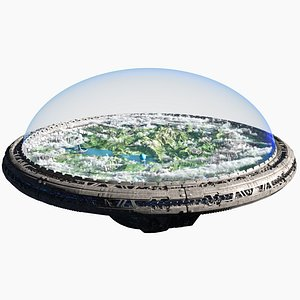 Sci-fi Ring Space Station 3D model