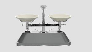 Lab Mechanical Balance Scale 3D