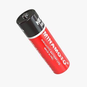 3D Battery Minamoto AA LR6