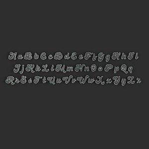 70s alphabet english 3D model