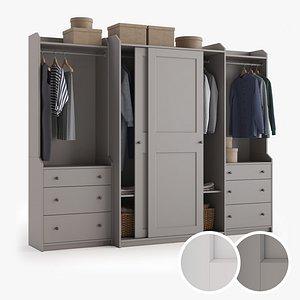 3D model hauga wardrobe