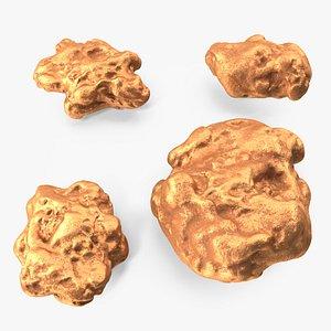 Metallic Copper Big Minerals 3D model