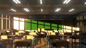 3D model Classroom EEVEE