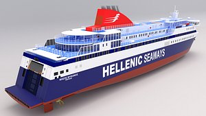 3D hellenic seaways nissos mykonos model