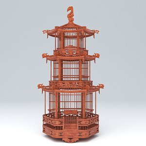 CHINESE BIRD CAGE 01 model