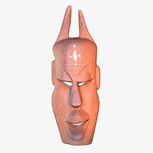 3D african mask modeled model