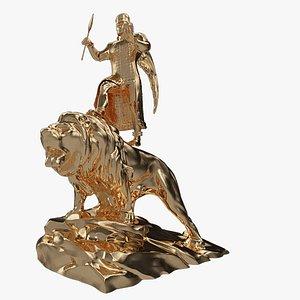 3D model statue sculpture art
