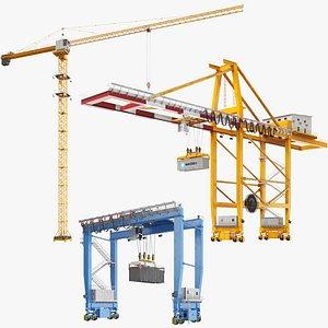 Industrial Cranes Collection model