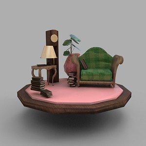Maquette sofa 3D model