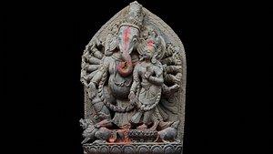 Ganesh with 3 LOD - Nepal Heritage model