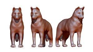 Siberian husky figurine 3D model