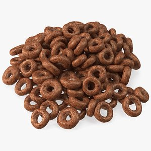 Chocolate Cereals Rings 3D model