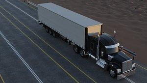 3D Kenworth W990 Truck 3D Model 3D model