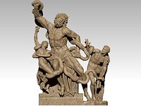 Laocoon and His Sons  low poly