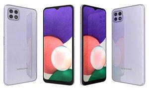 3D Samsung Galaxy A22 5G Violet