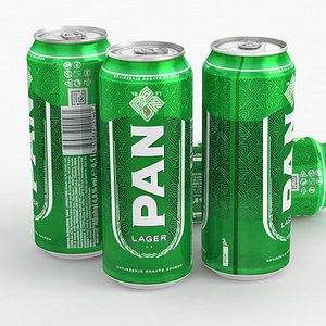 3D Beer Can PAN Lager 500ml 2021