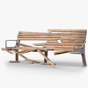 3D Old Bench 03 GameReady LODs