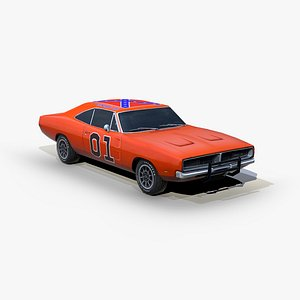 3D dodge charger 1969